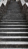 Stairs in the old town of Kotor on Adriatic coast of Montenegro. — Foto Stock