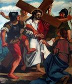 6 stationer på korset, veronica torkar ansiktet av jesus — Stockfoto