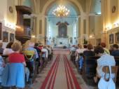 Mass for pilgrims in the Catholic Church Saint Jerome, Herceg Novi, Montenegro — Stock Photo