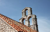 The bell tower of the church of Saint Mary in Punta, Budva, Montenegro — Stock Photo