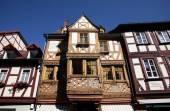Antigua casa de entramado de madera en miltenberg, Alemania — Foto de Stock