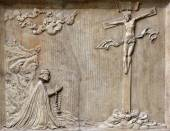Ukrzyżowanie ulgi rzeźby, Katedra St. Stephen w Wiedniu — Zdjęcie stockowe