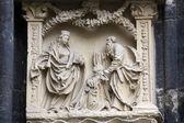 St Stephen'ın Katedrali Viyana'da dış duvarlarının Mimari ayrıntılar — Stok fotoğraf