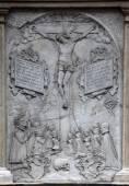 Kruisiging opluchting sculptuur, de St. Stephen kathedraal in Wenen — Stockfoto