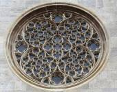 Rose window on St. Stephens Cathedral in Vienna — Photo