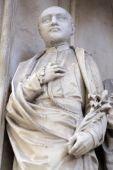 圣,玛丽亚雕像是在维也纳的 Gestade 教堂 — 图库照片