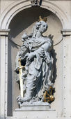 Saint Catherine of Alexandria, Jesuits church in Vienna — Stock Photo