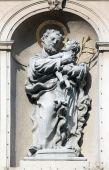 Saint Joseph, Jesuits church in Vienna — Stock Photo