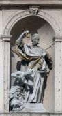 Statue of Saint, Jesuits church in Vienna — Stock Photo