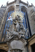 Saint John of Capistrano. Sculpture on the cathedral in Vienna — Foto de Stock