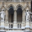 Fragment of famous City Hall building (Rathaus) in Vienna. — Stock Photo #61597715