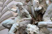 Power at Sea fountain at the Hofburg in Vienna — Stock Photo
