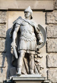 Wilhelm Seib : Soldat romain, sur la façade de la Neuen Burg sur l'Heldenplatz à Vienne — Photo