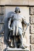 Johann Koloc: Slav, on the facade of the Neuen Burg on Heldenplatz in Vienna — Stock Photo
