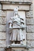 Rudolf Weyr: Magyar, on the facade of the Neuen Burg on Heldenplatz in Vienna — Stock Photo