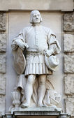 Emmerich Alexius Swoboda von Wikingen: Citizen, on the facade of the Neuen Burg on Heldenplatz in Vienna — Stock Photo