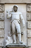 Werner David: Miner, on the facade of the Neuen Burg on Heldenplatz in Vienna — Stock Photo