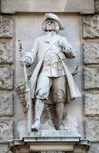 Richard Kauffungen: Viennese Citizen, on the facade of the Neuen Burg on Heldenplatz in Vienna — Stock Photo