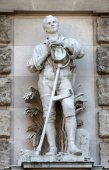 Anton Paul Wagner: Liberated Peasant, on the facade of the Neuen Burg on Heldenplatz in Vienna — Stock Photo