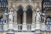 Fragment of famous City Hall building (Rathaus) in Vienna. — Stock Photo