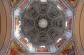 Dome in Salzburg Dom cathedral — Stock Photo