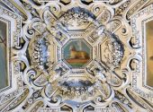 The Lamb og God, fragment of the dome of Salzburg Cathedral — Fotografia Stock