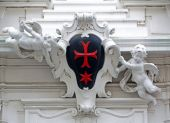 Detail from the house of the Knights of the Cross with the Red Star in Vienna — Fotografia Stock