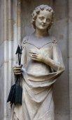 Saint Ursula, portal of the Minoriten kirche in Vienna — Stok fotoğraf