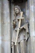 Saint Helena of Constantinople facade of Minoriten kirche in Vienna — Stock Photo