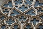 Rose window of Minoriten kirche in Vienna — Stok fotoğraf