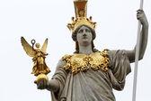 Pallas Athene Greek goddess of wisdom in front of Austrian parliament, Vienna, Austria on October 11, 2014. — Stock Photo