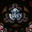 Saint Mark the Evangelist, Stained glass in Votiv Kirche (The Votive Church). It is a neo-Gothic church in Vienna — Stock Photo #62795177