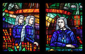 Afryka okna, witraże w Kirche wotywny w Wiedniu — Zdjęcie stockowe