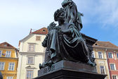Archduke Johann Fountain, Hauptplatz square, Graz, Styria, Austria — Stock Photo