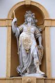 Minerva, Roman goddess of wisdom and sponsor of arts, trade, and strategy, Arsenal (Zeughaus) in Graz, Styria, Austria — Stock Photo