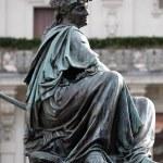 Archduke Johann Fountain, allegorical representation of the river Drau, Hauptplatz square, Graz, Austria — Stock Photo #65526411