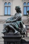 Archduke Johann Fountain, allegorical representation of the river Enns, Hauptplatz square, Graz, Austria — Stock Photo
