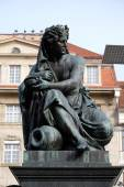 Archduke Johann Fountain, allegorical representation of the river Sann, Hauptplatz square, Graz, Austria — Stock Photo