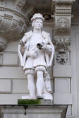 Statue of Art, allegorical representation, detail of Rathaus Town Hall, Graz, Austria — Stock Photo