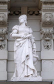 Statue of Science, allegorical representation, detail of Rathaus Town Hall, Graz, Austria — Stock Photo