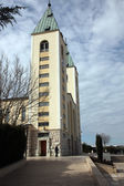 The parish church of St. James, the shrine of Our Lady of Medugorje — Stock Photo