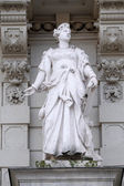Statue of Commerce, allegorical representation, detail of Rathaus Town Hall, Graz, Austria — Stock Photo