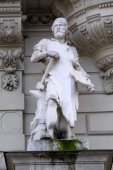 Statue of Industry, allegorical representation, detail of Rathaus Town Hall, Graz, Austria — Stock Photo