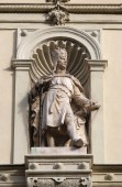 Statue of the Austrian monarchs on the portal of City Hall. Graz, Austria — Stock Photo