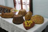 Festive table in Ethnological Folk Museum Staro Selo in Kumrovec, Northern County of Zagorje Croatia — Stock Photo