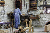 Carpenter's workshop in Ethnological Folk Museum Staro Selo in Kumrovec, Northern County of Zagorje, Croatia — Stock Photo