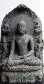 Buddha seated in bhumisparsha — Stock Photo
