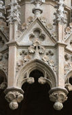 Detail of the portal of the Zagreb cathedral — Stock Photo