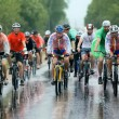 A group of cyclist racer racing in the rain — Stock Photo #52113011