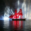 Celebration Scarlet Sails show during the White Nights Festival — Stock Photo #77785280